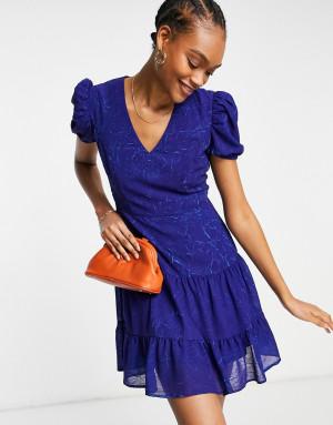 Синее платье мини French Connection Calandra-Голубой